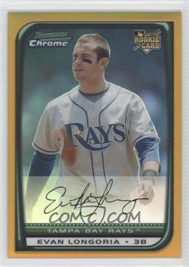 2008 Bowman Draft Picks & Prospects Chrome Gold Refractor #BDP27 - Evan Longoria /50