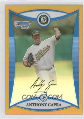 2008 Bowman Draft Picks & Prospects Prospects Chrome Gold Refractor #BDPP56 - Anthony Capra /50