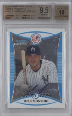 2008 Bowman Draft Picks & Prospects Prospects Chrome #BDPP127 - Jesus Montero [BGS 9.5]