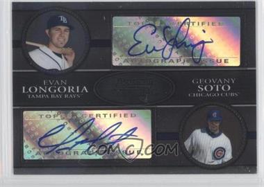 2008 Bowman Sterling - Dual Autographs - [Autographed] #DA-LS - Evan Longoria, Geovany Soto /325