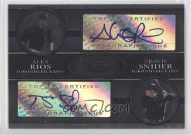 2008 Bowman Sterling - Dual Autographs - [Autographed] #DA-RS - Alex Rios, Travis Snider /325