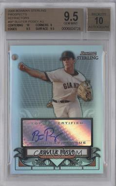 2008 Bowman Sterling - Prospects - Refractor #BSP-BP - Buster Posey /199 [BGS9.5]