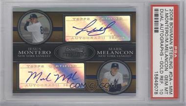 2008 Bowman Sterling Dual Autographs Gold Refractor [Autographed] #DA-MM - Jesus Montero, Mark Melancon /50 [PSA10]