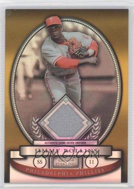 2008 Bowman Sterling Gold Refractor #BS-JR - Jimmy Rollins /50