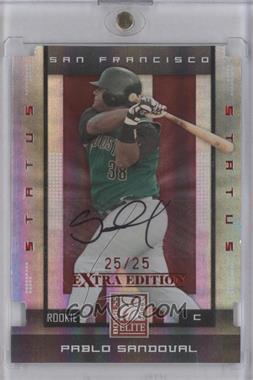 2008 Donruss Elite Extra Edition - [Base] - Status Red Die-Cuts Autographs [Autographed] #152 - Pablo Sandoval /25