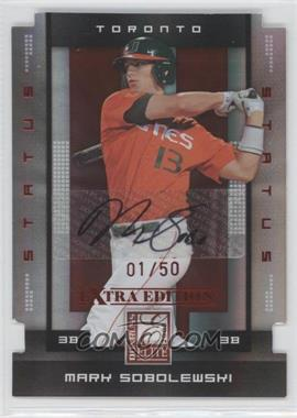 2008 Donruss Elite Extra Edition - [Base] - Status Red Die-Cuts Autographs [Autographed] #69 - Mark Sobolewski /50