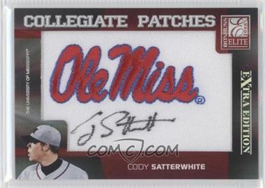 2008 Donruss Elite Extra Edition - Collegiate Patches #CP-33 - Cody Satterwhite /250