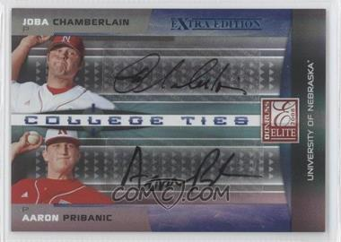 2008 Donruss Elite Extra Edition College Ties Blue Dual Autographs [Autographed] #CTC-18 - Joba Chamberlain, Aaron Pribanic /25
