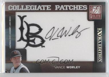 2008 Donruss Elite Extra Edition Collegiate Patches #CP-52 - Vance Worley /250