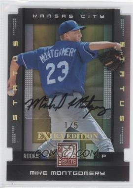 2008 Donruss Elite Extra Edition Status Gold Die-Cuts Autographs [Autographed] #150 - Mike Montgomery /5