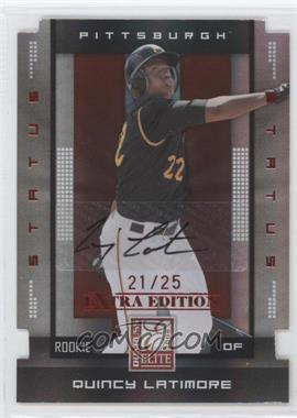 2008 Donruss Elite Extra Edition Status Red Die-Cuts Autographs [Autographed] #153 - Quincy Latimore /25