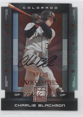 2008 Donruss Elite Extra Edition Status Red Die-Cuts Autographs [Autographed] #17 - Charlie Blackmon /25