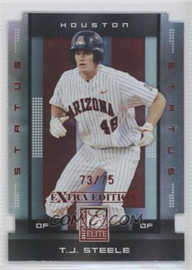 2008 Donruss Elite Extra Edition Status Red Die-Cuts #90 - T.J. Steele /75