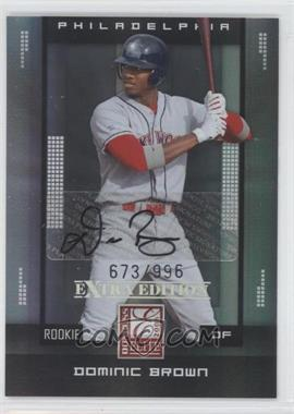 2008 Donruss Elite Extra Edition #121 - Dominic Brown /996
