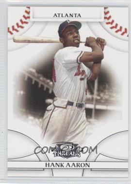 2008 Donruss Threads - [Base] #1 - Hank Aaron