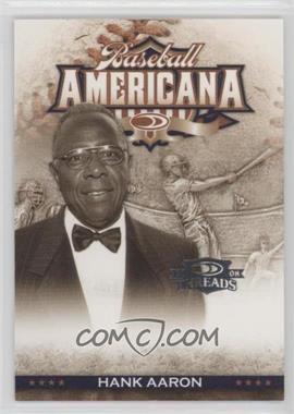 2008 Donruss Threads - Baseball Americana #BA-14 - Hank Aaron /500