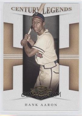 2008 Donruss Threads - Century Legends #CL-3 - Hank Aaron