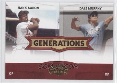 2008 Donruss Threads - Generations #G-1 - Hank Aaron