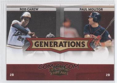 2008 Donruss Threads - Generations #G-5 - Rod Carew, Paul Molitor
