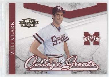 2008 Donruss Threads [???] #CG-9 - Will Clark