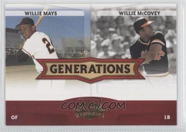 2008 Donruss Threads [???] #G-4 - Willie Mays, Willie McCovey