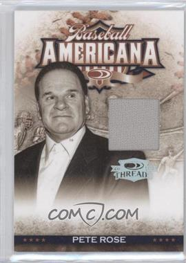 2008 Donruss Threads Baseball Americana Materials [Memorabilia] #BA-6 - Pete Rose /250