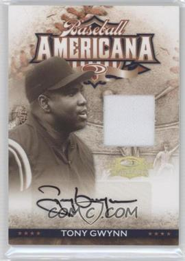 2008 Donruss Threads Baseball Americana Materials Signatures [Autographed] [Memorabilia] #BA-13 - Tony Gwynn /50