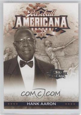 2008 Donruss Threads Baseball Americana #BA-14 - Hank Aaron /500