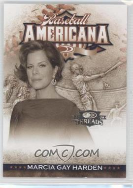 2008 Donruss Threads Baseball Americana #BA-29 - Marcia Gay Harden /500