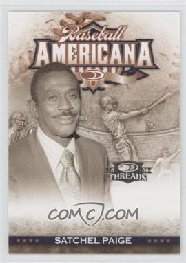 2008 Donruss Threads Baseball Americana #BA-45 - Satchel Paige /500