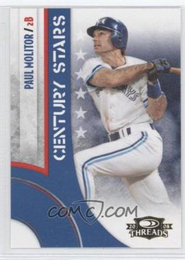 2008 Donruss Threads Century Stars #CS-14 - Paul Molitor