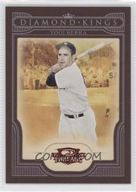 2008 Donruss Threads Diamond Kings Red Framed #DK-43 - Yogi Berra /100