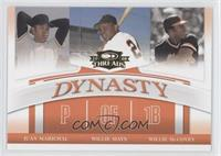 Juan Marichal, Willie Mays, Willie McCovey