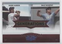 Hank Aaron, Dale Murphy /100