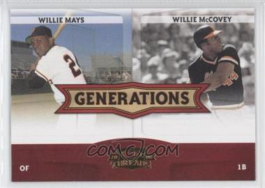 2008 Donruss Threads Generations #G-4 - Willie Mays, Willie McCovey