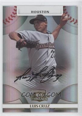 2008 Donruss Threads Gold Signatures #86 - Luis Cruz /975