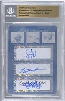 Jason Heyward, Tommy Hanson, Jordan Schafer /1 [BGS AUTHENTIC]