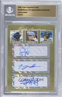 Jason Heyward, Tommy Hanson, Jordan Schafer /10 [BGS AUTHENTIC]