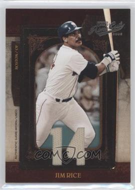 2008 Playoff Prime Cuts - [Base] - Jersey Number Jerseys [Memorabilia] #43 - Jim Rice /14