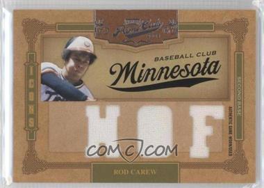 2008 Playoff Prime Cuts - Icons - HOF Materials [Memorabilia] #18 - Rod Carew /5