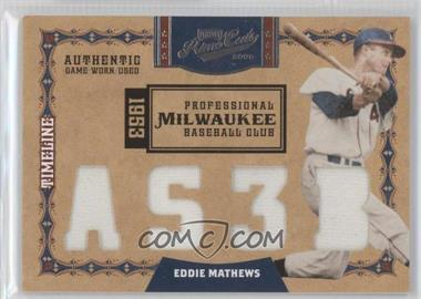 2008 Playoff Prime Cuts [???] #26 - Eddie Mathews /4