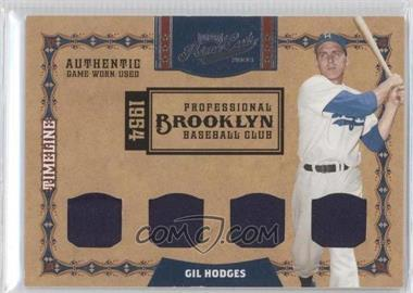 2008 Playoff Prime Cuts Timeline Quads Materials [Memorabilia] #27 - Gil Hodges /10