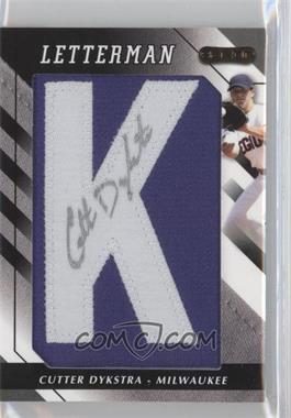 2008 Razor Letterman #K - Cutter Dykstra