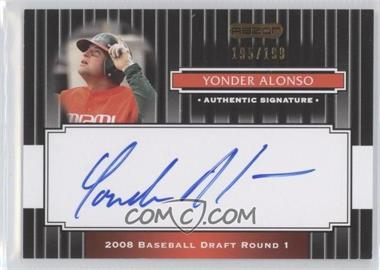 2008 Razor Signature Series - [Base] - Black #107 - Yonder Alonso /199