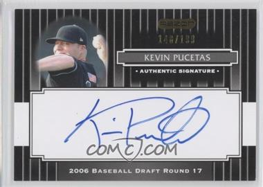 2008 Razor Signature Series - [Base] - Black #189 - Kevin Pucetas /199