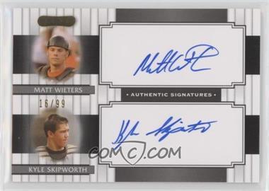 2008 Razor Signature Series - Dual Signatures #DS-2 - Matt Wieters, Kyle Skipworth /99