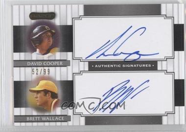 2008 Razor Signature Series - Dual Signatures #DS-7 - David Cooper, Brett Wallace /99