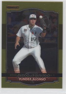 2008 Razor Signature Series [???] Gold #BA-YA - Yonder Alonso
