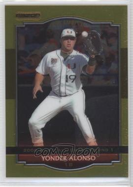 2008 Razor Signature Series [???] Gold #BA-YA - Yonder Alonso