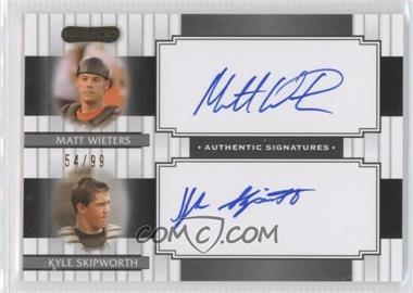 2008 Razor Signature Series [???] #DS-2 - Matt Wieters, Kyle Skipworth /99